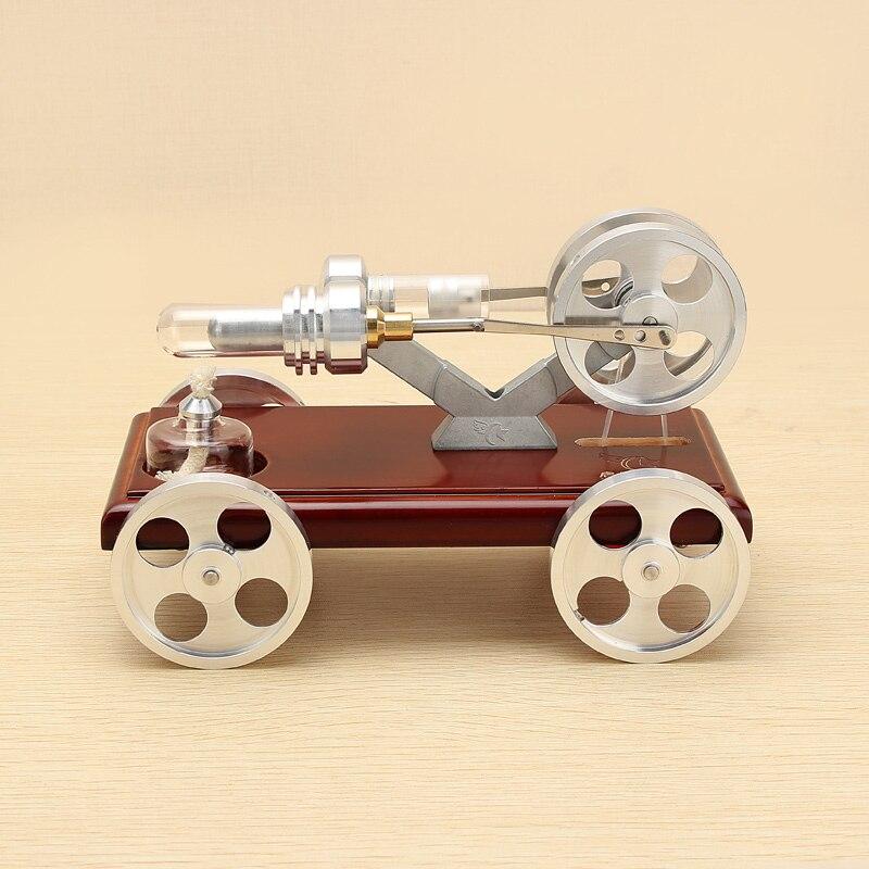 180x108x116mm Motore Modello di Auto Stirling Modello Del Motore Kit di Attrezzature Per Studente di Scuola di Formazione Fisica Corso Divertimento fornitura di Nuovo
