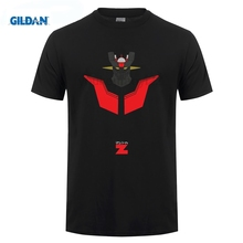 GILDAN Summer  Men Clothing Cool Mazinger Z Cartoon T Shirt Mens T-Shirt S-3XL The New Fashion For Short Sleeve