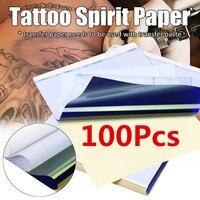 A4 Tattoo Spirit Papers 100Pcs/Set Reusable Thermal Transfer Copier Paper Stencil Kits Tattoo Body Art Accessories Tools