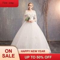 Vestido de Noiva 2019 принцесса свадебное платье с открытыми плечами аппликация Кружева Милая бисера бальное платье для выпускного вечера платье не
