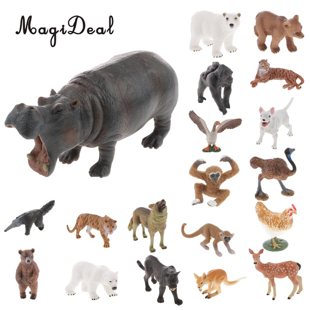MagiDeal Realistic Anteater Bear Dog Wild Animal Figurine Model Action Figure for Baby Children Kids Toy Gift Decor figurine