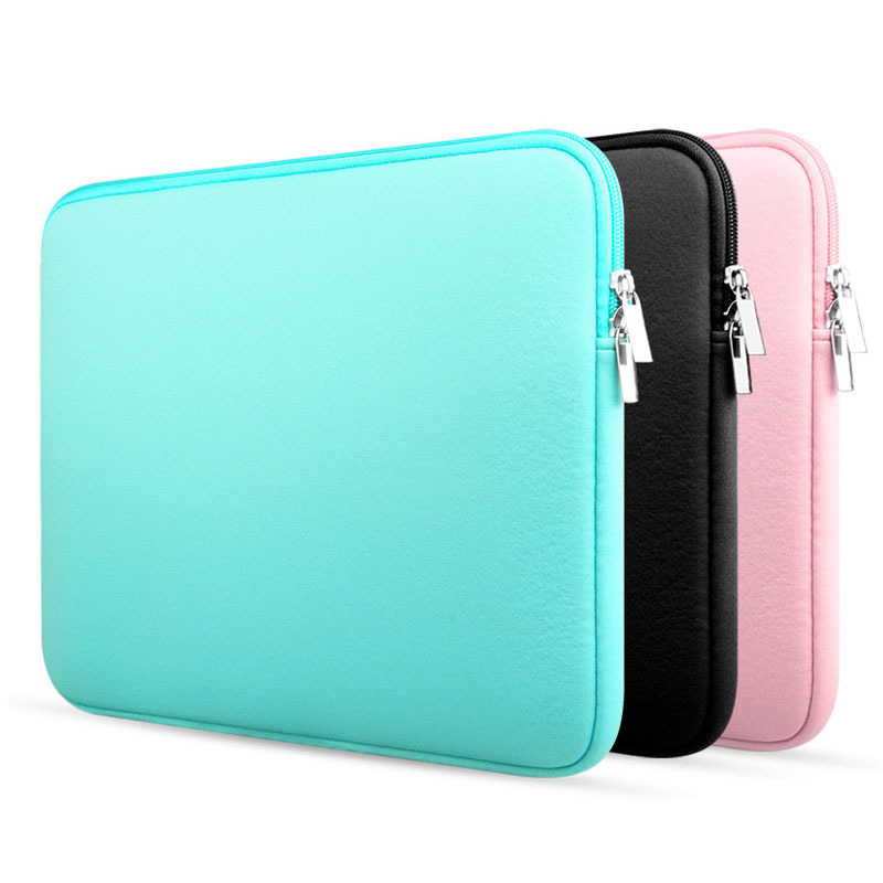 Upgrade 11 13 14 15.6 Inch Laptop Sleeve Case For Macbook Air Pro Ultra-book Notebook Computer Soft Plush Lining Zipper Bag