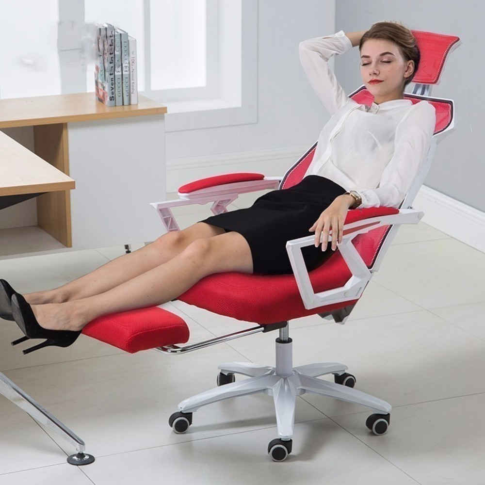 new Computer Household Work An comfort Office chairs furniture Netting Can Lie Swivel Boss Chair Noon Break Game Electric - 4