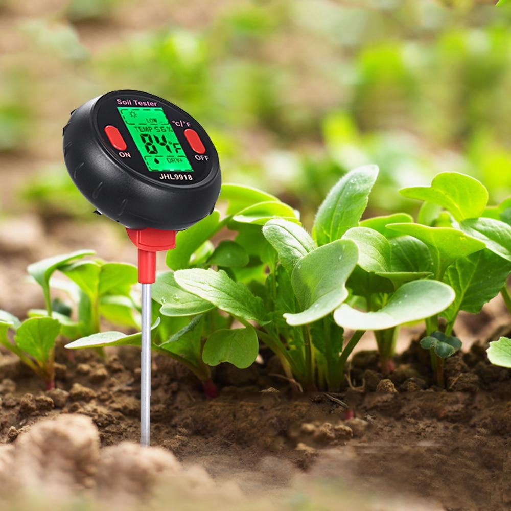 5 In 1 Digital PH Meter Soil Moisture Monitor Temperature Sunlight Tester For Gardening Plants Farming With Blacklight5 In 1 Digital PH Meter Soil Moisture Monitor Temperature Sunlight Tester For Gardening Plants Farming With Blacklight