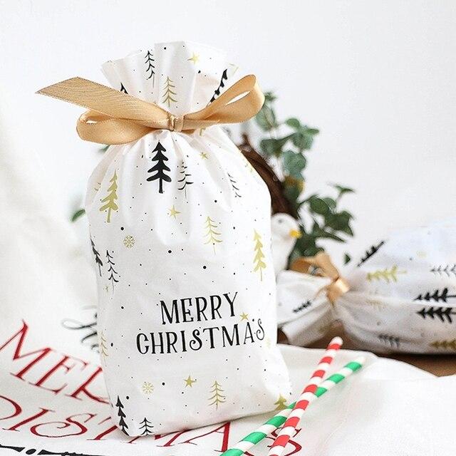 Buon Natale Con Il Torrone.Us 3 55 10 Pz Set Di Natale Sacchetto Di Caramelle Torrone Cookie Sacchetto Di Buon Natale Nuovo Anno Di Natale Rifornimenti Del Partito Del Regalo