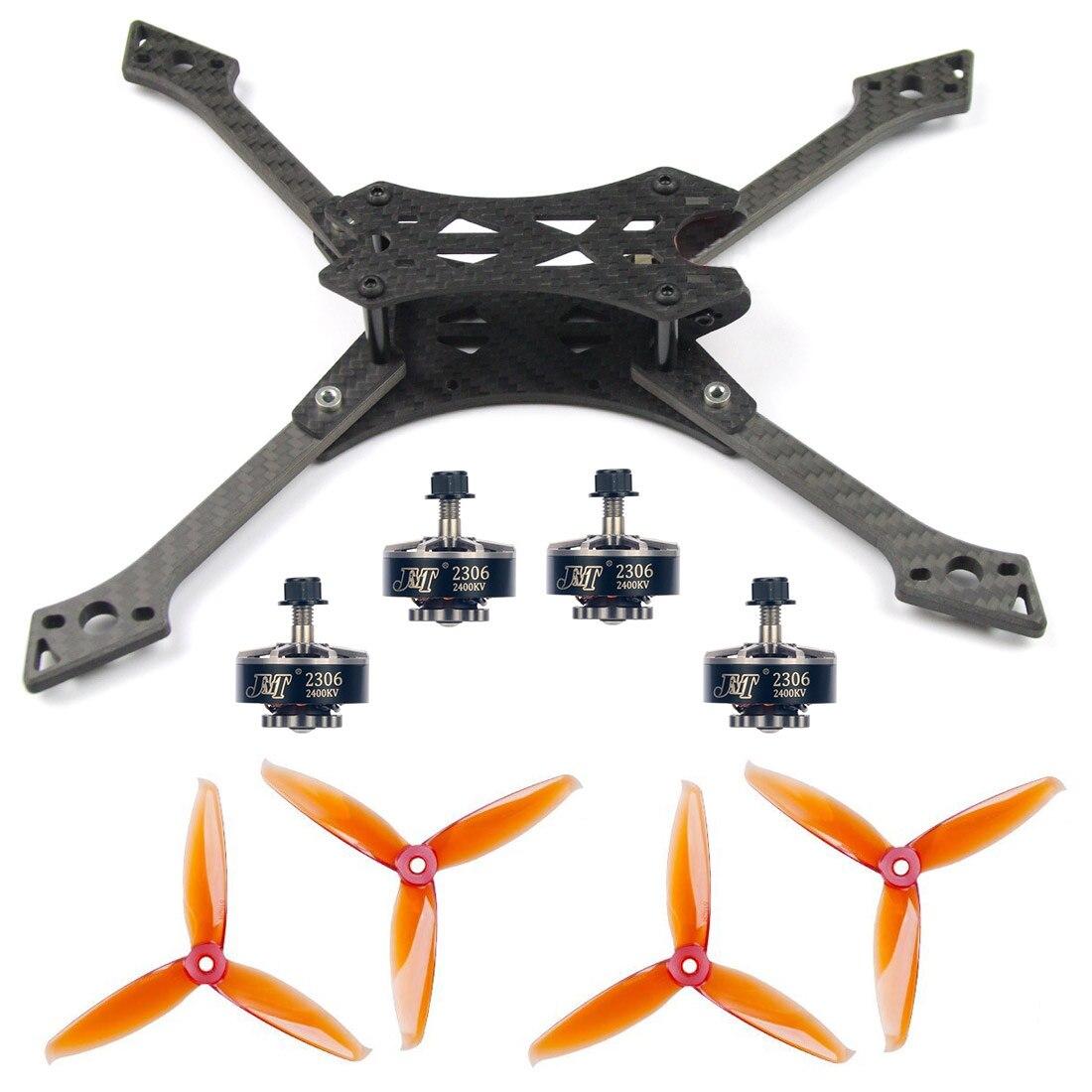 JMT 220 MM bricolage FPV course Drone Kit 220mm en Fiber de carbone cadre ensembles 5152 S CW CCW hélices 2306-2400KV 3-4 S moteurs pièce de rechange