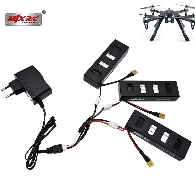 Original <font><b>7.4V</b></font> 1800mah <font><b>Li</b></font>-<font><b>po</b></font> Battery Charger For MJX R/C Bugs 3 Battery for MJX B3 RC Quadcopter Drone Spare Parts Accessories image