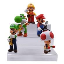 цены на 5 PCS/set Anime Music Concert Super Mario Bros Toad Donkey Kong Yoshi Luigi PVC Action Figure Doll Collectible Model Baby Toy  в интернет-магазинах