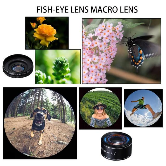 Phone Camera Lens Kit 12X Zoom Lens 0.62X