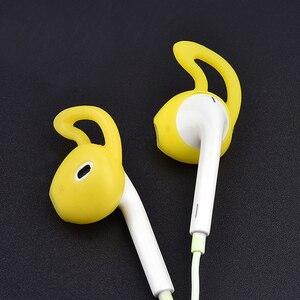 Image 2 - 4 sztuk douszne wkładki douszne słuchawki skrzynki pokrywa skóry dla Apple dla iPhone 7 dla AirPods Case амбушюры