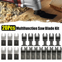 20Pcs Multitool Saw Blade Oscillating Blade Multi Tool Saw For Renovator For Bosch,Fein Multimaster Wood Cutting Accessories Kit