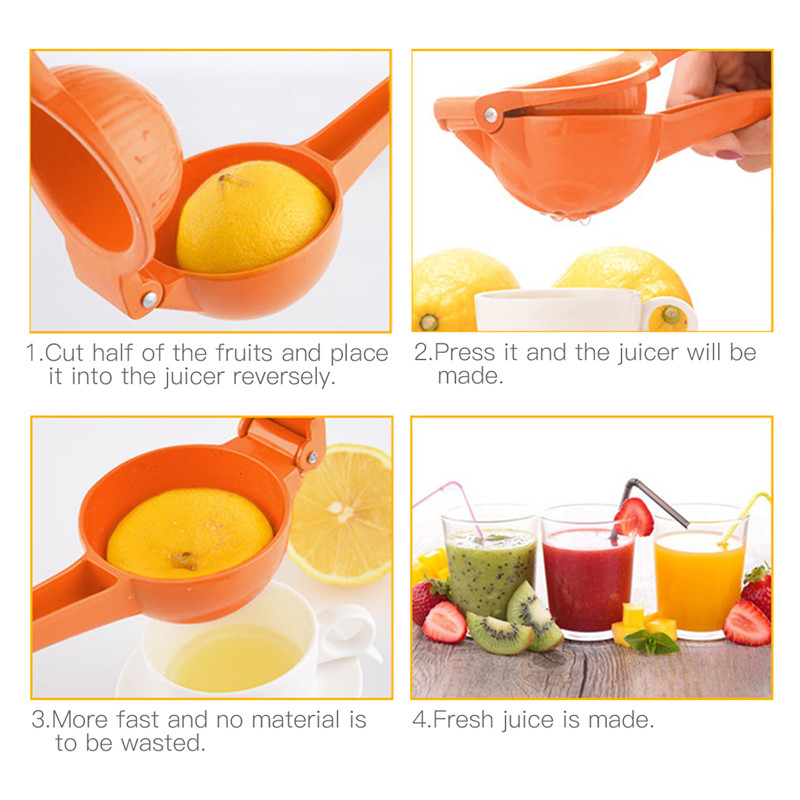 NEW-Manual Juice Extractor Aluminium Alloy Hand Press Juicer Mini Travelling Camping Fruits Squeezer Orange Citrus Juicer Stra
