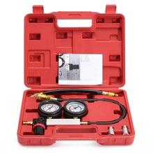 0-100PSI Petrol Gas Engine Cylinder Compressor Gauge Meter Cylinder Leak Tester Pressure Sensor Double Gauge Diagnostic Tool