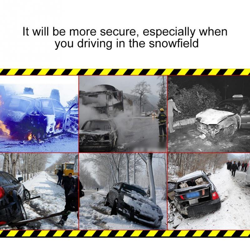 6 шт., автомобильные противоскользящие цепи для снега, колеса, противоскользящие, универсальные, зимние, дорожные, безопасные шины, цепи для ... - 4