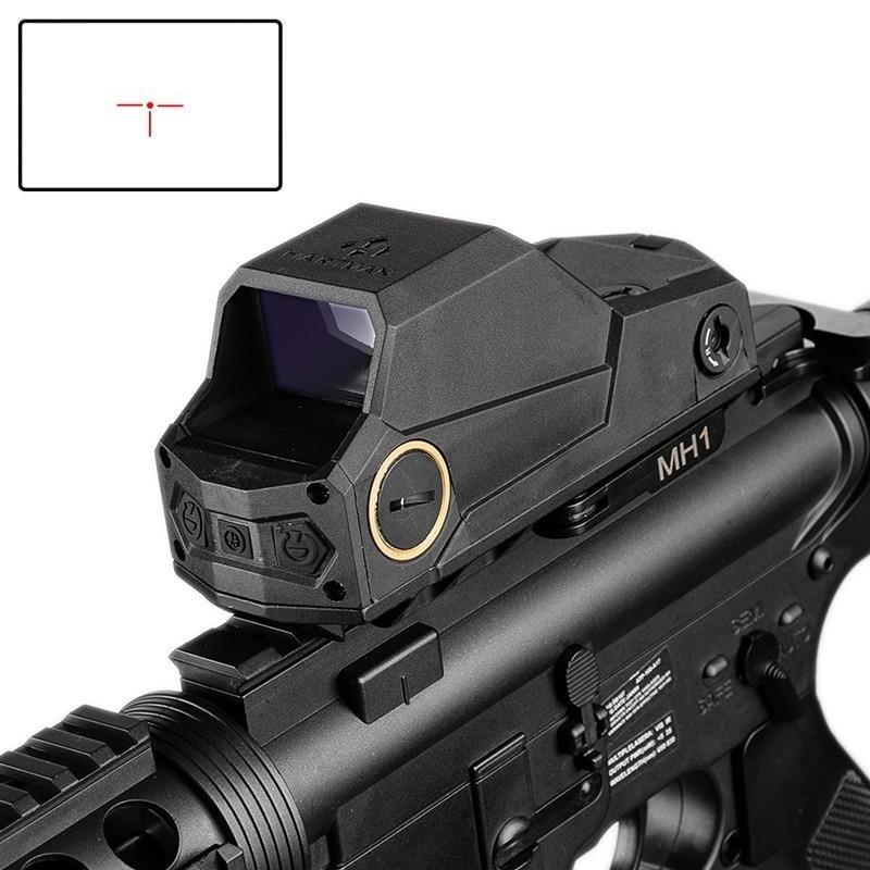 Avcılık MH1 taktik kırmızı nokta görüşü çift hareket sensörü yansımalı nişangah en büyük görüş alanı gece görüş kapsamı Ak 47