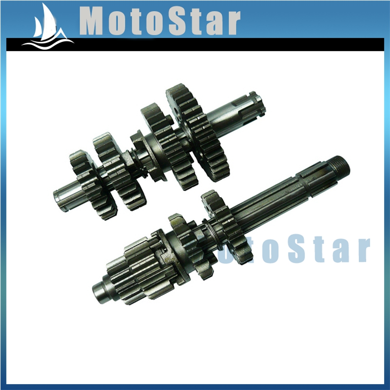 Gear Box Main Counter Shafts For Zongshen Z155 155cc 1P60YMJ Thumpstar Orion Pitster DHZ SSR Braaap