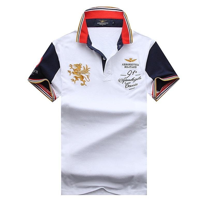 Embroidery Animal lion Eden AERONAUTICA MILITARE   Polo   shirt for male Camisas Masculinas COTTON Park Men's Shirts Air Force One