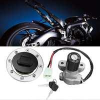 Ignition Switch Fuel Tank Cap Lock Set For Suzuki GSXR1000 TL1000R GSF1200 SV650 Ignition Switch Lock Gas Cap Lock With 2 Keys