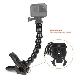 Image 1 - ALLOET Gooseneck Adjustment Jaws Flexible Clamp Clip Mount Holder For GoPro Hero 7 6 5 SJCAM SJ Xiaomi Yi 4K Camera Accessories