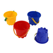 4pcs Beach Toys Plastic Castle Bucket Funny Toys Beach Game Educational Sand Toy Sandbox Toys for Kids Children(China)