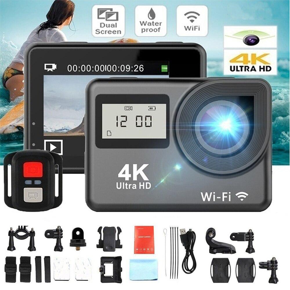 4K Touchscreen WiFi Action Camera Dual Screen Ultra HD 30M Waterproof DV Sports Cam Camcorder 170