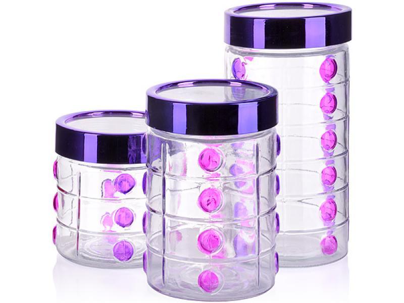 Set jars bulk MAYER & BOCH, 3 Subject, purple bottles jars