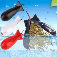 1Pcs Fishing Large Rockets Spod Bomb Fishing Tackle Feeders Pellet Rocket Feeder Float Bait Holder Maker Tackle Tool Accessories