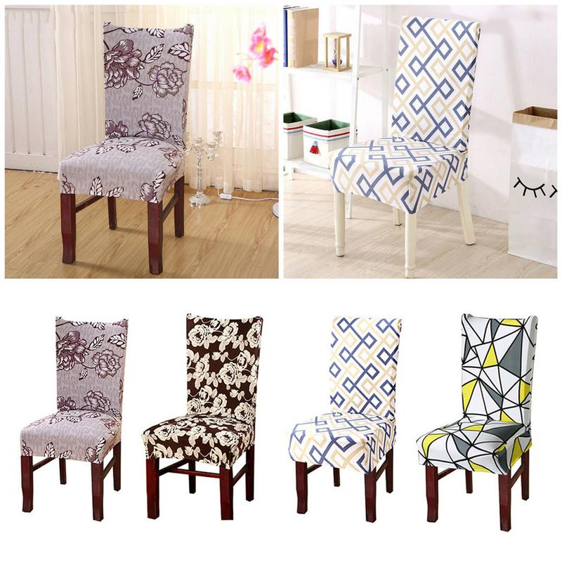 Stretch Removable Kitchen Bar Dining Room Chair Cover Seat Cover Stretch Super Fit Short Dining Room Slip Covers Protector