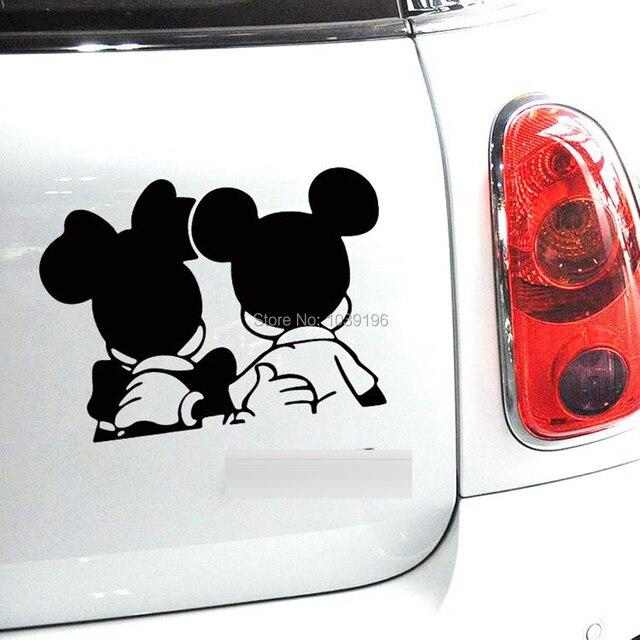 Engraçado Criativo Projeto Mickey Minnie Dos Desenhos Animados Car Styling Adesivos de Carro Decoração Do Carro Adesivos Corpo Reflexivo Padrão Vinyl Decal