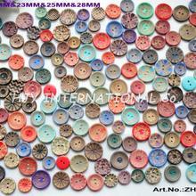 40 г/пакет) Лак деревянные швейные пуговицы шляпа аксессуары для скрапбукинга разнообразные кнопки 20 мм, 23nn, 25 мм, 28 мм-ZH60