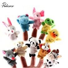 Бренд 3 комплекта Семья пальцевые Куклы Мягкие плюшевые тряпичная кукла детские развивающие ручной животных милые плюшевые игрушки Рождественский подарок для детей, для детей возрастом от 12/10/6 шт