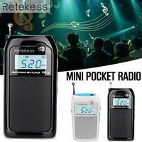 PR12 Radio FM AM Mini Pocket USB Radio Receiver Mp3 Player Portable Receiver Digital Stereo Support TF Card For Elderly Gift