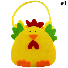 Easter Bag Cute Chick Rabbit Pattern Portable Candy Non-Woven Egg Pocket Tote Bags Party Gift For Children