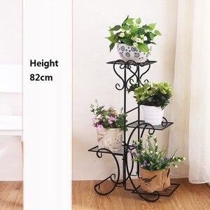 Image 5 - Scaffali çinde Metallo bir Ripiani desteği Plante Varanda dekorasyon Exterieur raf bitki standı Balcon Balkon çiçek demir raf