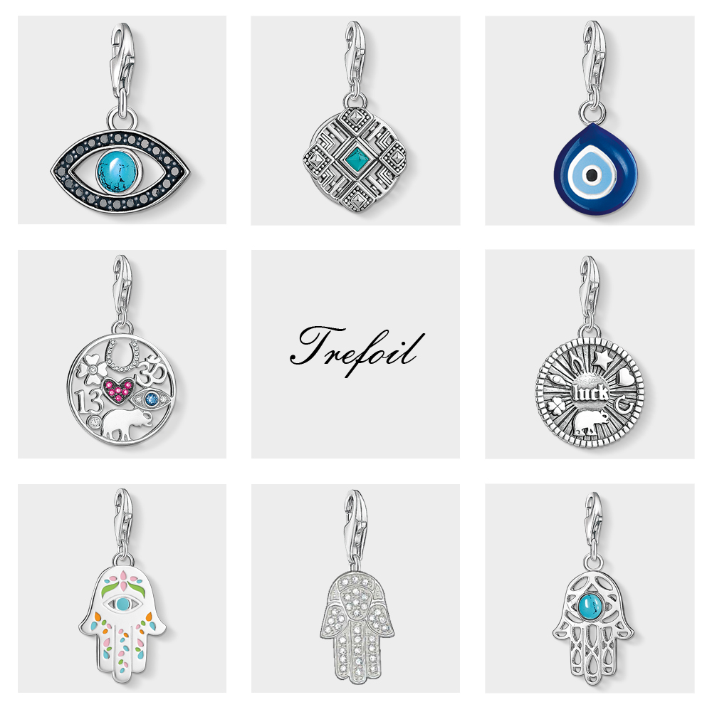 Turkish Eye Fatima Lucky Coin Charms Pendant,Fashion Jewelry 925 Sterling Silver Lucky Gift For Women Men Fit Bracelet Necklace