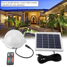 LED Solar Flood Light 6V 3W IP65 Waterproof Solar Garden Light Path Wall Lamp with Remote Controller luz solar para exterior