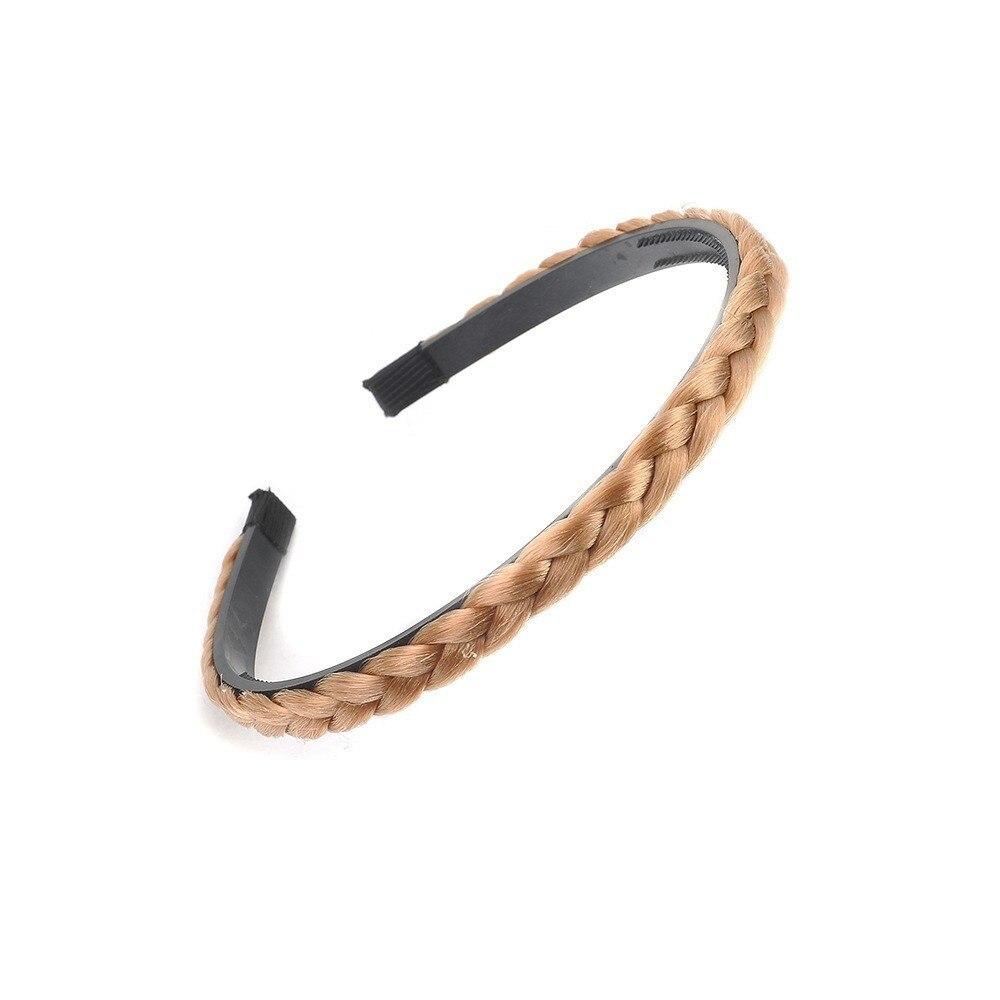 1 Pcs Women Elegant Solid Wig Braid Hairband Girl Fashion Elastic Hair Holder Headband Lady Hair Accessories Superior (In) Quality