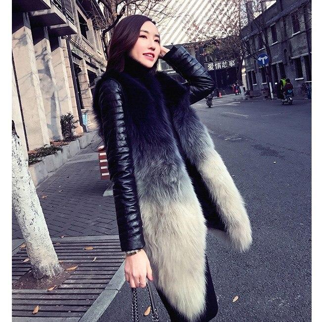 En Amovible Manteau Chaud Décontracté De Fausse Faux D'hiver Femmes Des Sans Mode Nouvelle Blanc Mince 2018 Manches Fourrure Gilet A6vTq