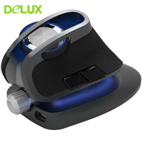 Delux M618X 2.4G Wireless Mouse Bluetooth Mouse Ergonomic Vertical Mice 4000 DPI 6 Buttons Optical for PC Laptop Computer Gaming