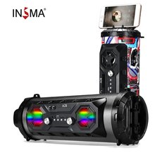 INSMA Hifi Portable bluetooth Speaker FM Radio Move KTV Wireless Surround Sound Subwoofer 20W Outdoor Speakers Boombox TF USB wireless bluetooth speaker outdoor waterproof boombox portable stereo subwoofer surround speakers for computer support tf usb