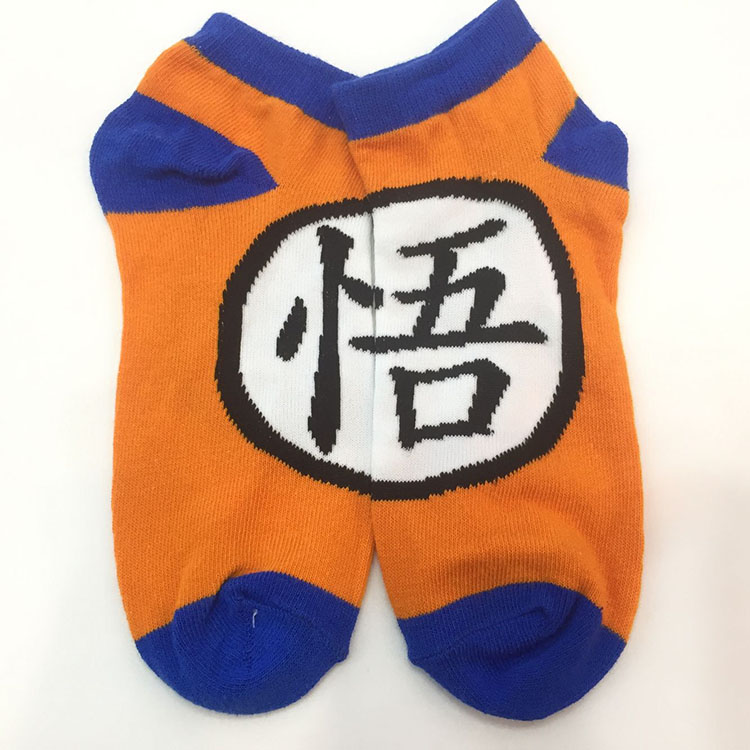 Wellcomics Anime Dragon Ball Z Son Goku Symbol Cartoon Cotton Socks Colorful Knee High Socks Stockings Winter Cosplay Costume