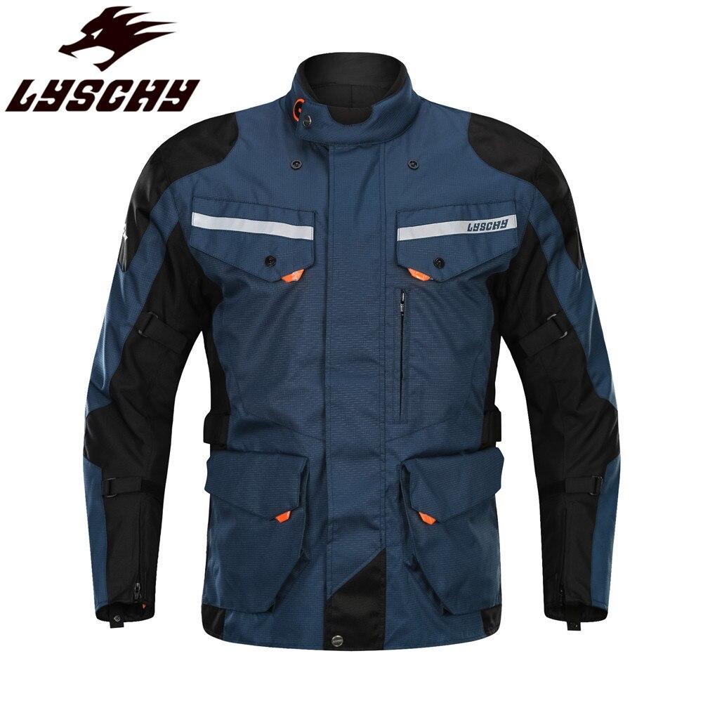 LYSCHY imperméable Moto équitation veste de Moto vêtements Protection manteau réfléchissant homme armure corporelle protecteur vêtements vestes