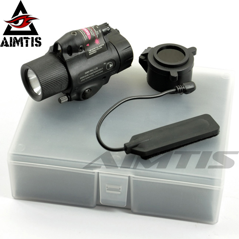 AIMTIS Tactical M6X Flahlight Laser Combo 2 in 1 IR Illuminator LED Flashlight with Led Red Laser w/ IR Infrared Filter BK/TANAIMTIS Tactical M6X Flahlight Laser Combo 2 in 1 IR Illuminator LED Flashlight with Led Red Laser w/ IR Infrared Filter BK/TAN