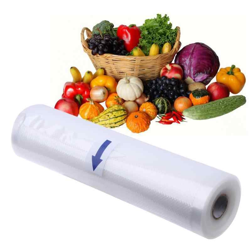1 Roll Food Storage Bag 15x500cm 20x500cm roll Vacuum Sealer Food Saver Bag Home Kitchen Storage Organization Plastic Bags