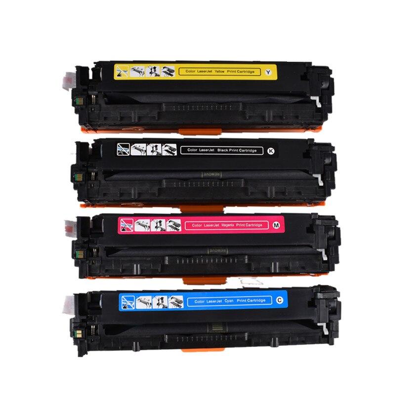 Cartucho de Toner de Cor Compatível para hp 200 a Cores Laserjet Pro M251n M251nw M276n M276nw Impressora Cf210a Cf211a 212a Cf213a 131a