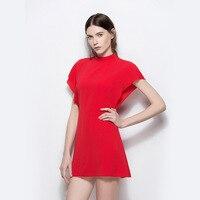 2019 Simplee Fashion Chiffon Cotton Dress Women Ruffle Sleeve High Waist Short Dress Casual Dress Female Vestidos G3P7