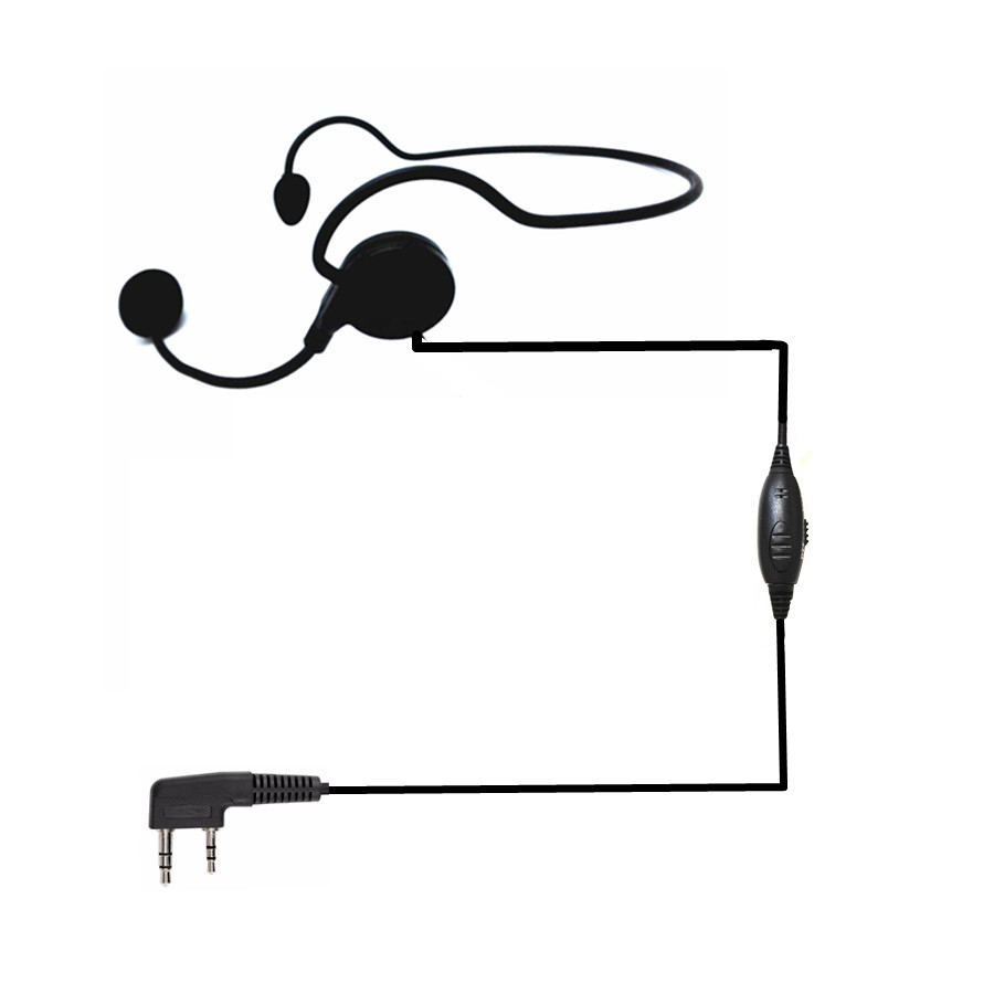 Universal 2pin Finger Ptt Vox Earpiece Soft Microphone Headset For Kenwood Baofeng Uv-5r Bf-888s Retevis H777 Rt5 Walkie Talki