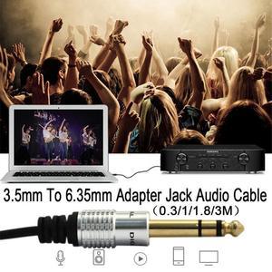 Image 5 - 3,5mm zu 6,5mm Adapter Jack Audio AUX Kabel für Mixer Verstärker Gitarre Männlichen