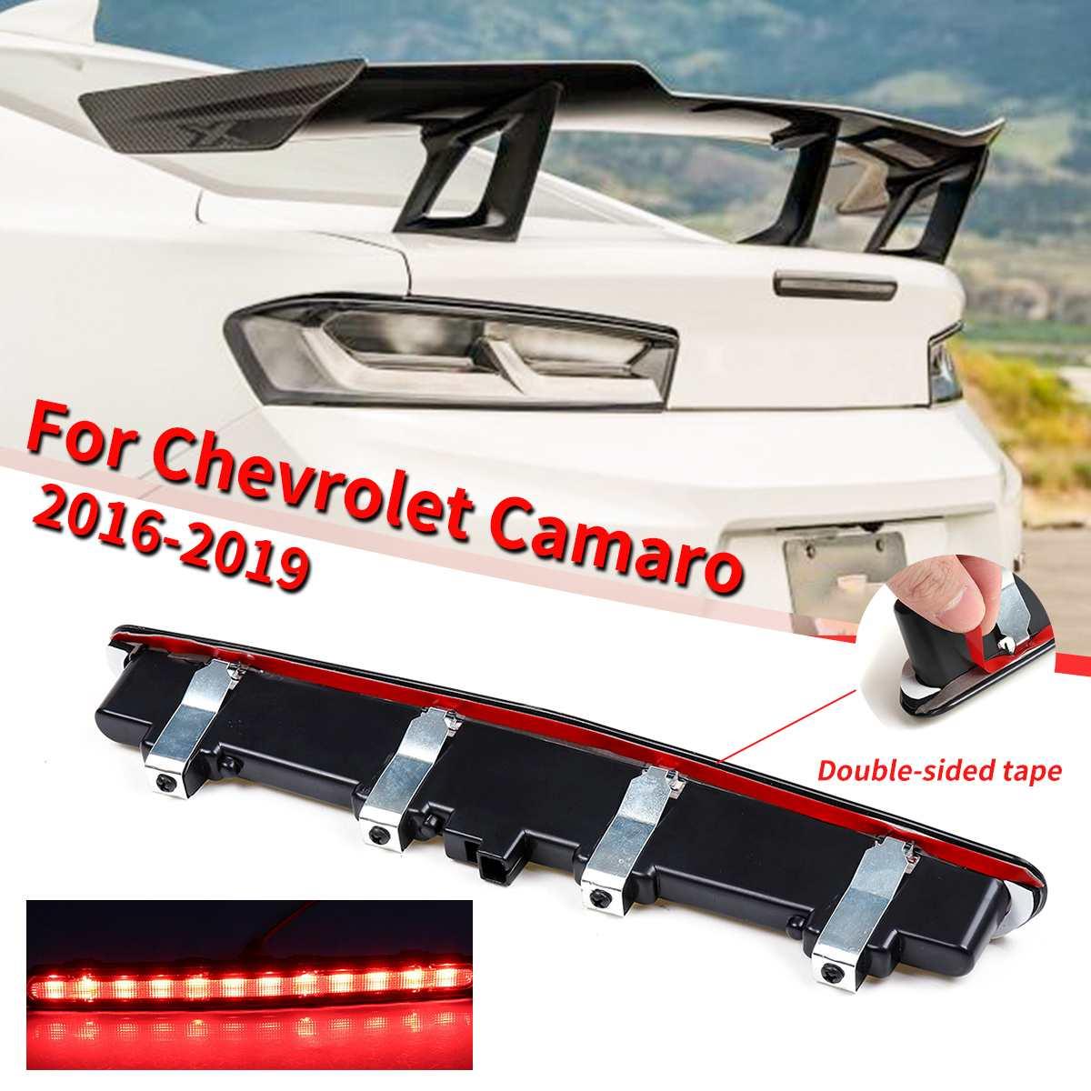 1 Pcs Gerookte Verduisterd Led Achter Red Derde 3rd Remlicht Lamp Abs Voor Chevrolet Camaro 2016-2019 Superieure Prestatie