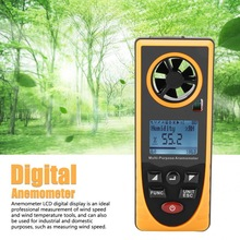 Tacometro GM8910 Digital Anemometer Multifunctional LCD Display Digital Anemometer Air Wind Speed Scale Meter Speed Revolution tenmars tm 401 handheld digital multifunctional anemometer air velocity meter